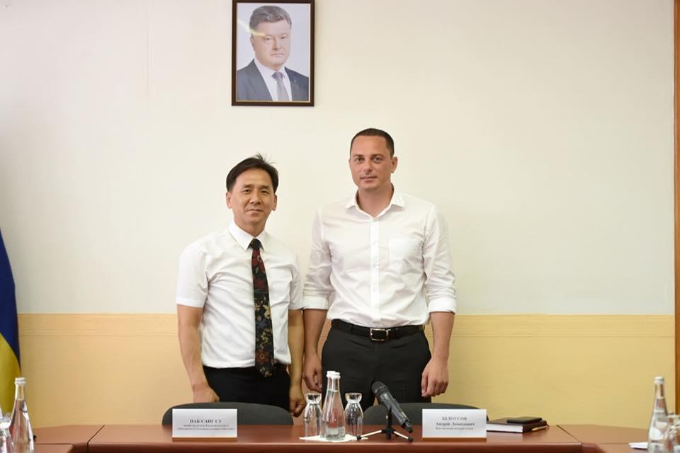 Зустріч ректора IMEI в Україні Park Sung Soo з міським головою м. Кам'янське Андрієм Білоусовим